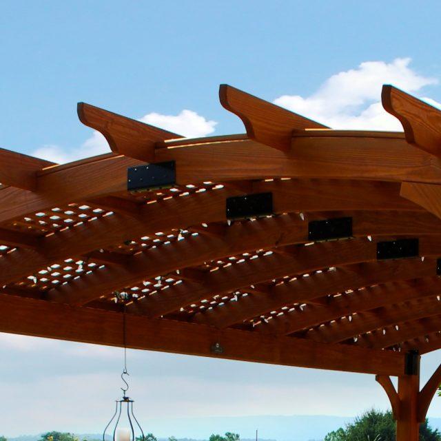 lattice roof design for pergolas