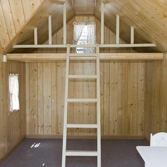 kids playhouse loft and ladder