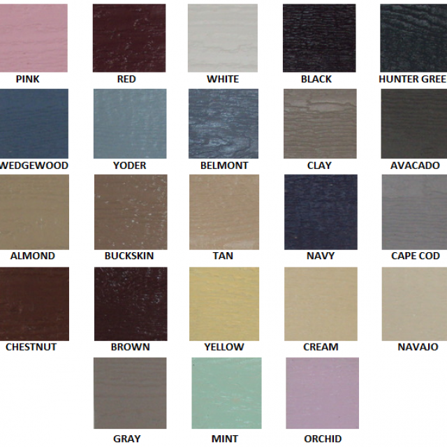 siding colors for kids playhouses