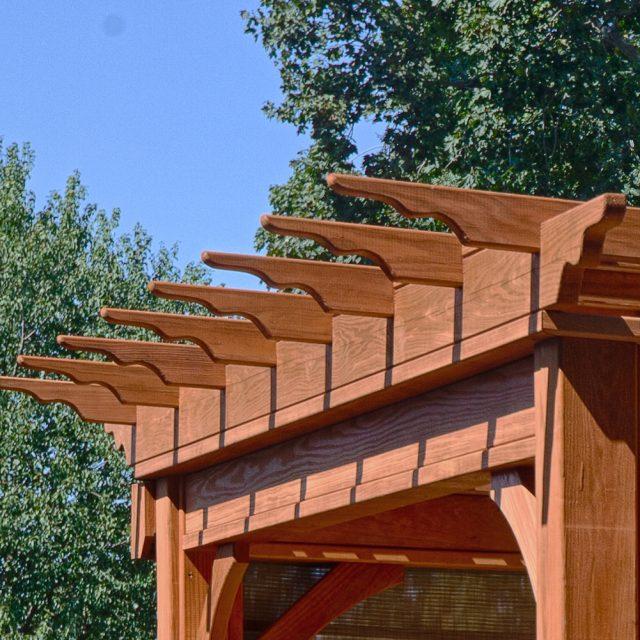 cedar pergola roof style