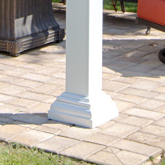 decorative post skirt installation for traditional pergolas