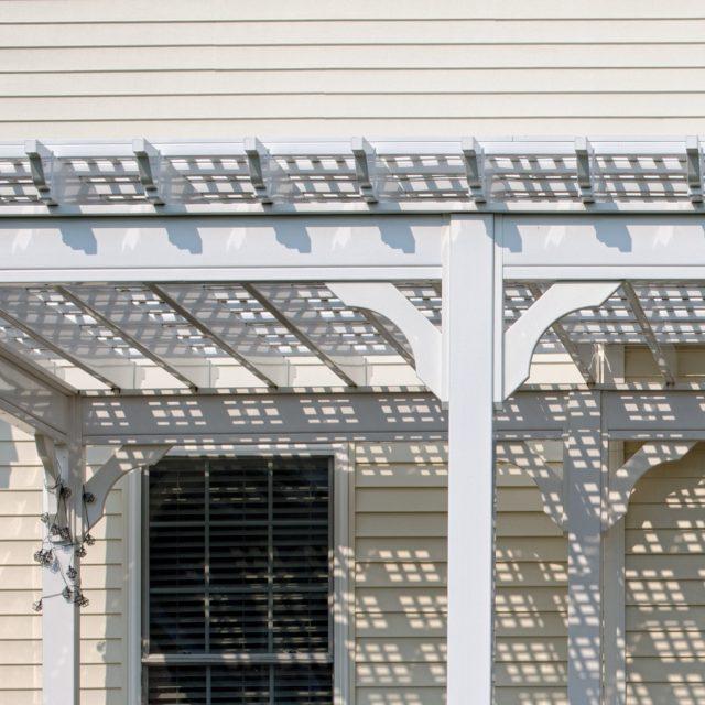 vinyl lattice roof for traditional pergolas