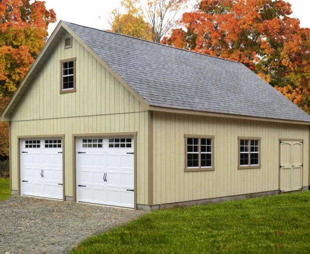 2 Story 2 Car A-Frame Garage Building