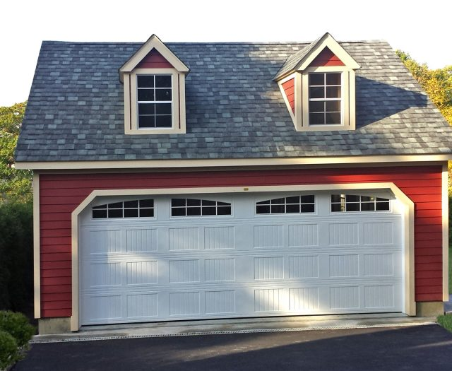 2 Story 2 Car A-Frame Garage Building with Dormers