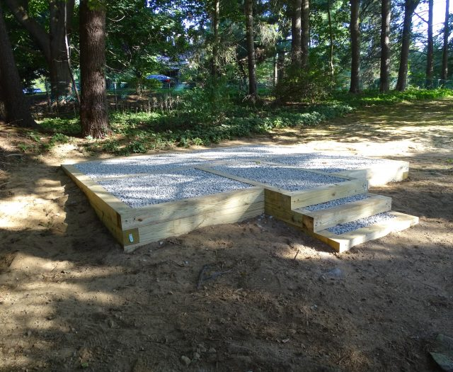 Gravel Pad Installation with Three Steps for Easy Access to Shed