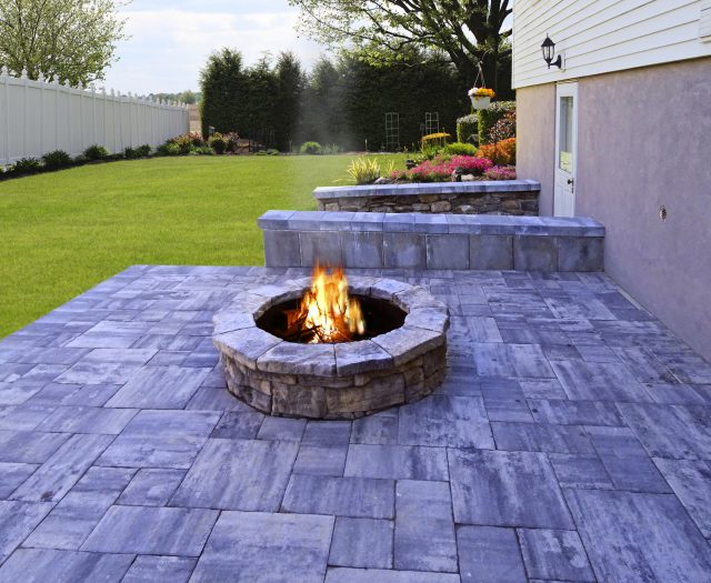 Beautiful Custom Fire Pit and Patio