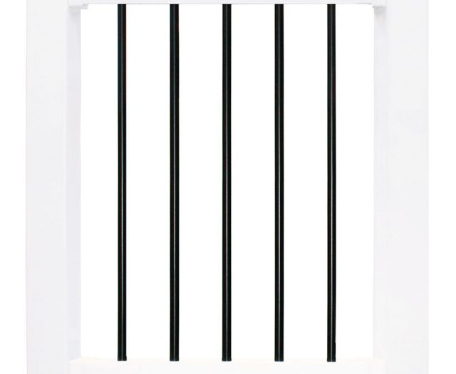 Landmarke White Vinyl with Black Round Aluminum Balusters