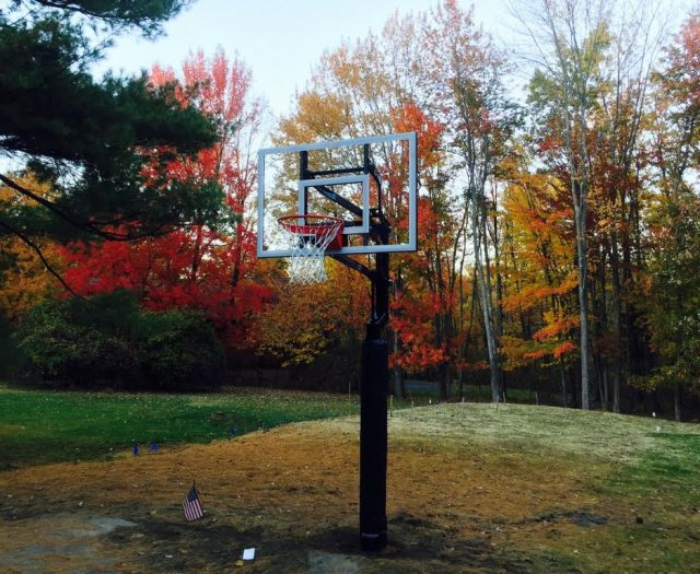 Backyard Basketball System Installed