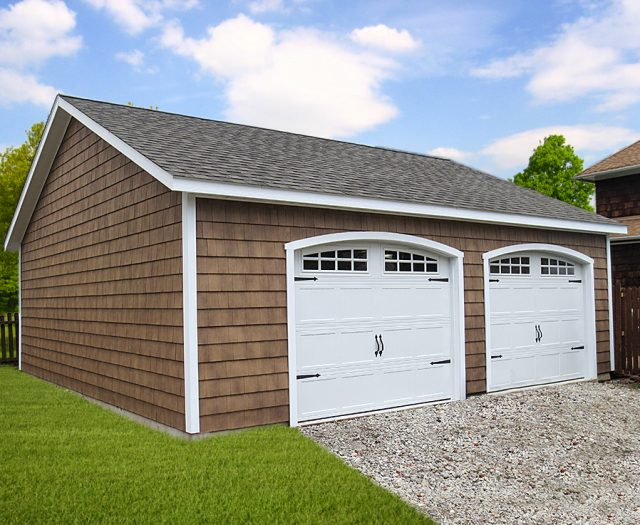 Classic 2 Car Garage with Cedar Shake Siding