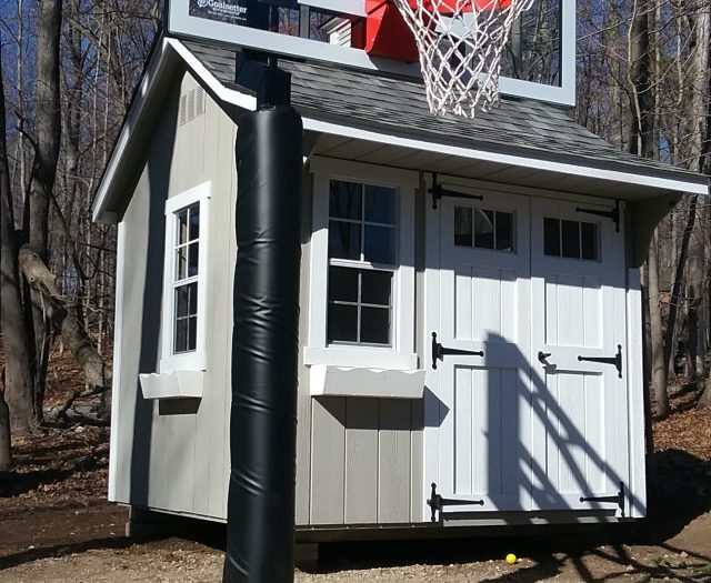 Goalsetter Basketbll Hoop Installed Next to Shed 2