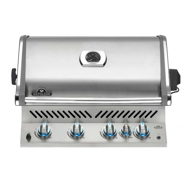 BIPRO500-Napoleon-Grill-Head-with-Lights-On
