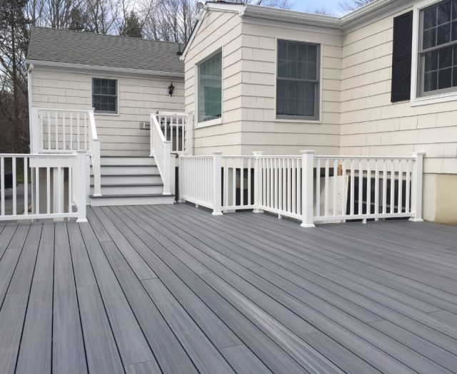 fully finished composite deck in south salem ny