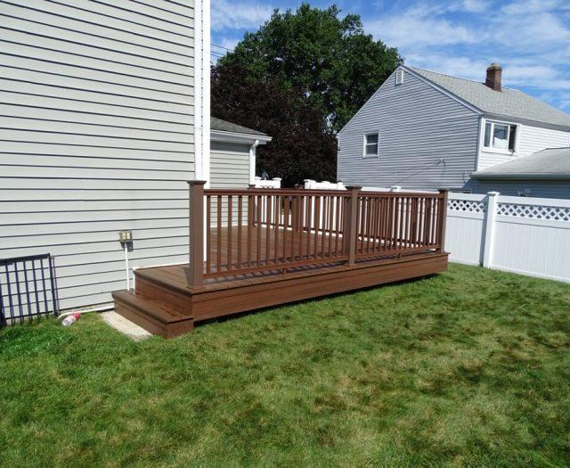 composite deck stair installation