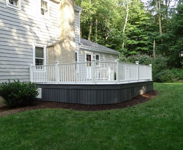 attached composite deck in stamford ct