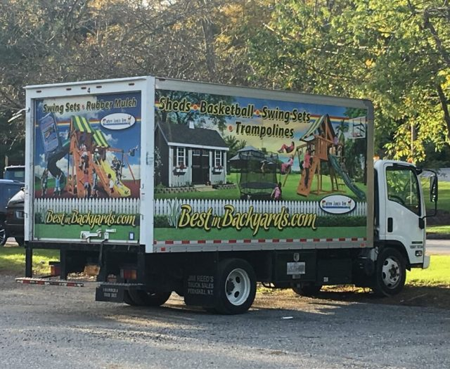 Best in Backyards Box Truck with Logo