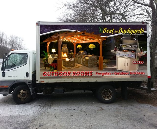 Best in Backyards Delivery Truck with Grill and Pergola