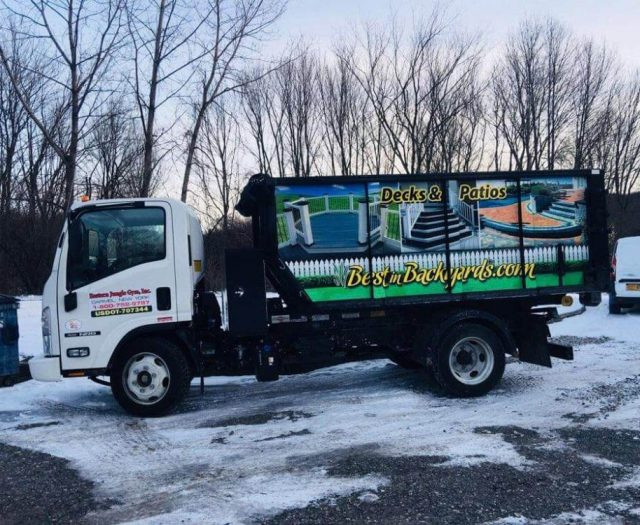 Best in Backyards Dump Truck with Graphics