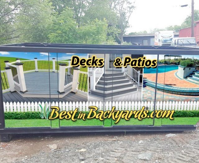 Best in Backyards On Site Dumpster