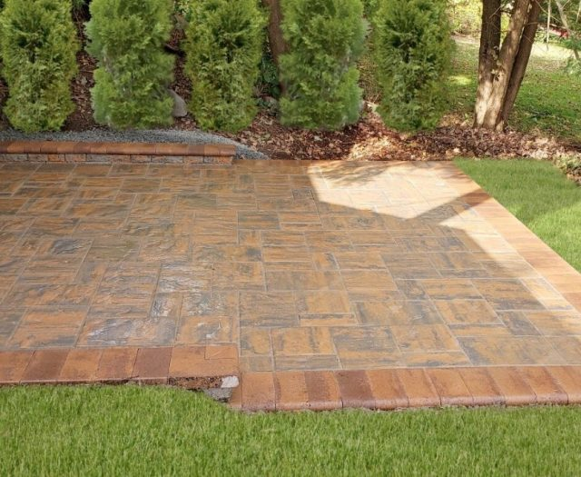 Beautiful Patio with Nicolock Pavers and Stone