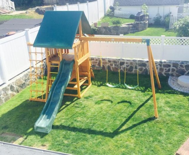 Dream Backyard Playset Installation After