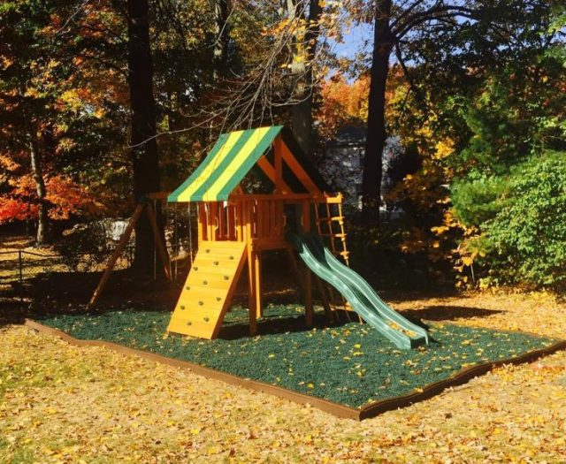 Dream Backyard Swing Set Delivered and Installed with Mulch