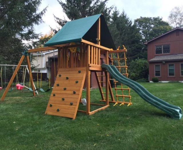 Dream Cedar Playset Delivered and Installed
