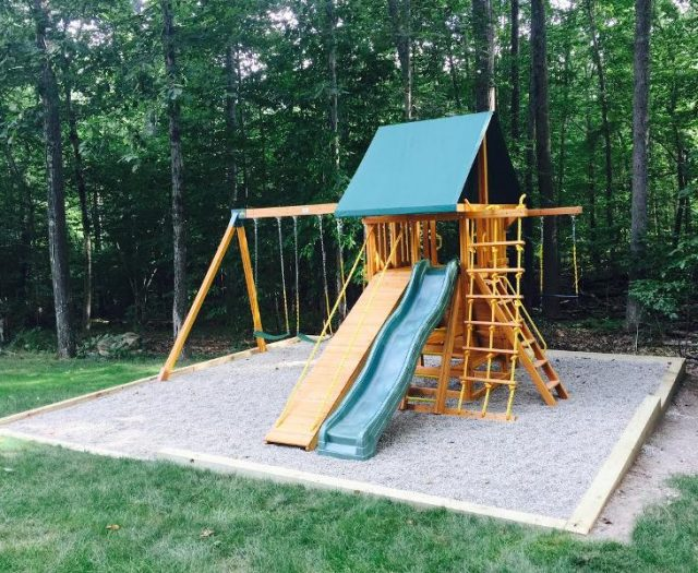 Dream Cedar Swing Set Delivered and Installed After