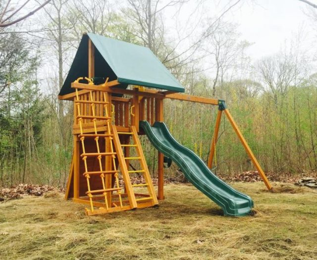 Dream Outdoor Cedar Swing Set Delivered and Installed