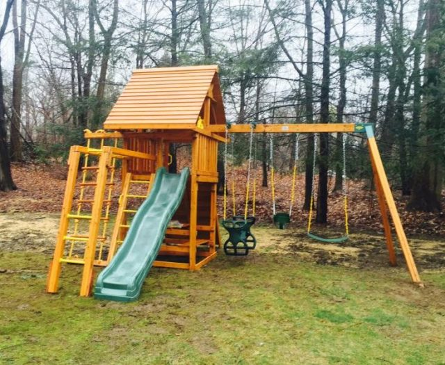 Dream Outdoor Cedar Swing Set with Picnic Table