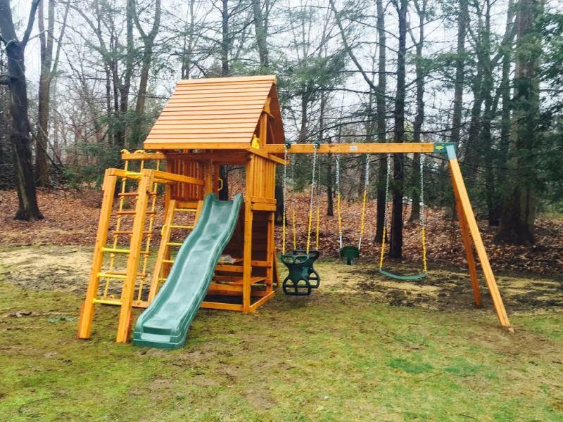 Dream Wood Swing Set Backyard Playset Ny Ct