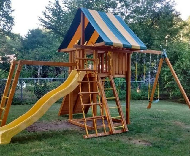 Dream Playset Installed with Monkey Bars