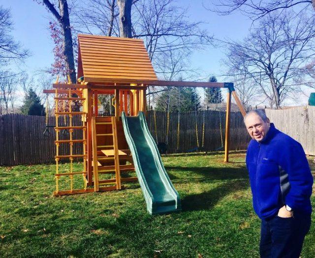 Dream Playset with Wood Roof and Happy Customer