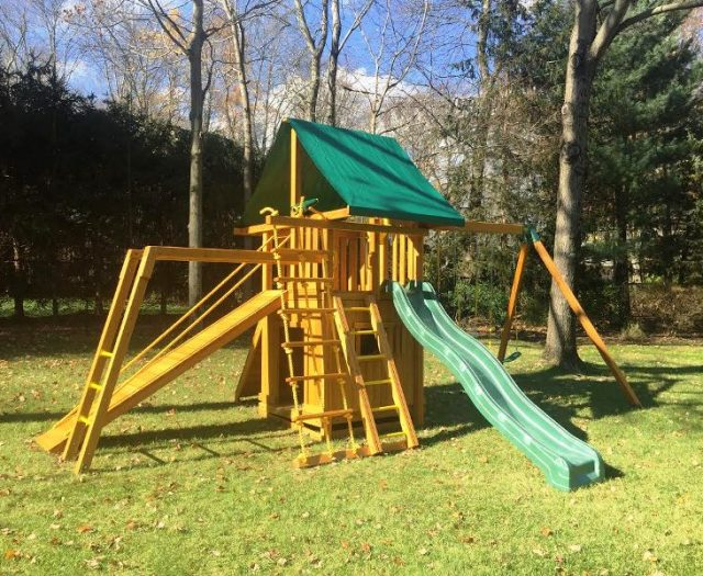 Dream Wood Swing Set with Monkey Bars Delivered and Installed