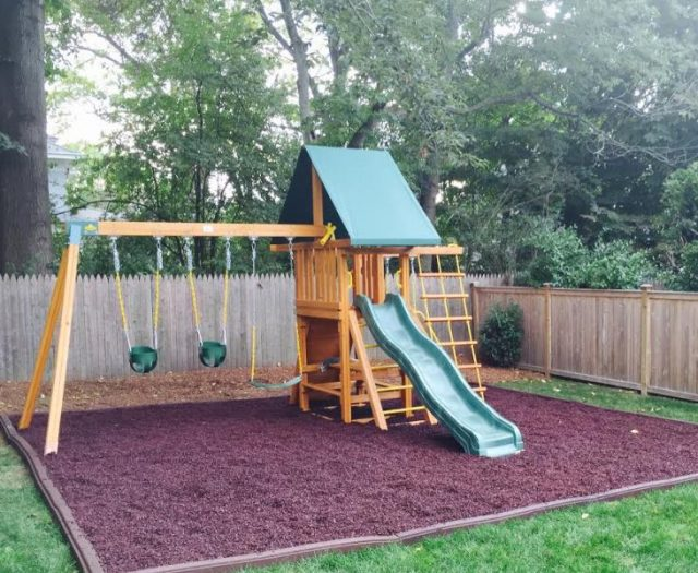 Dreamscape Backyard Playset Delivered and Installed with Rubber Mulch