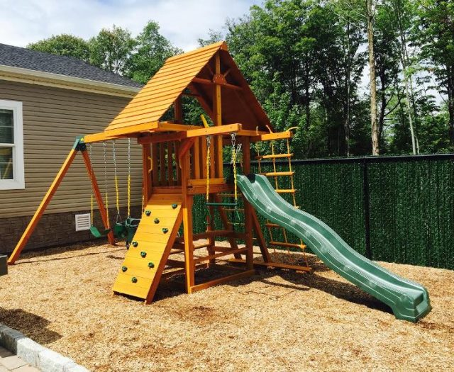 Dreamscape Backyard Swing Set Delivered
