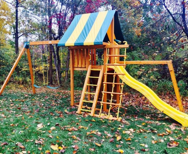 Dreamscape Cedar Playset with Monkey bars