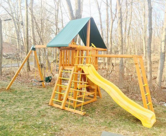 Dreamscape Cedar Swing Set Delivered and Installed