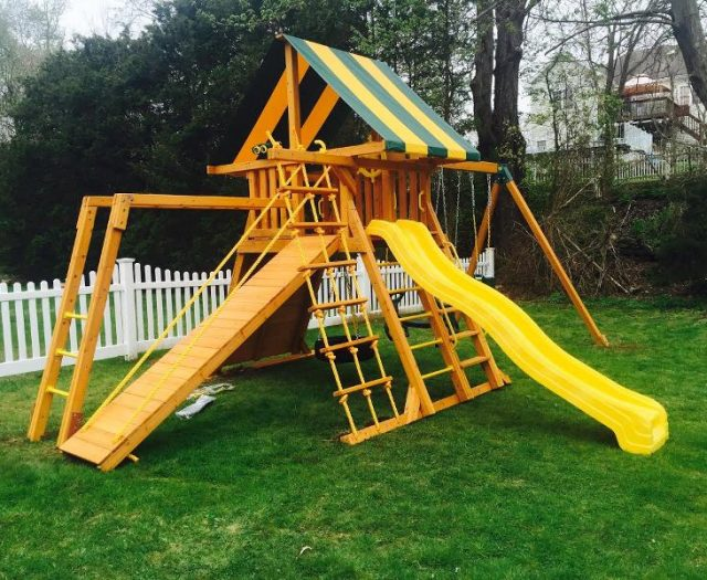 Supreme Backyard Playset Delivered and installed with monkey bars