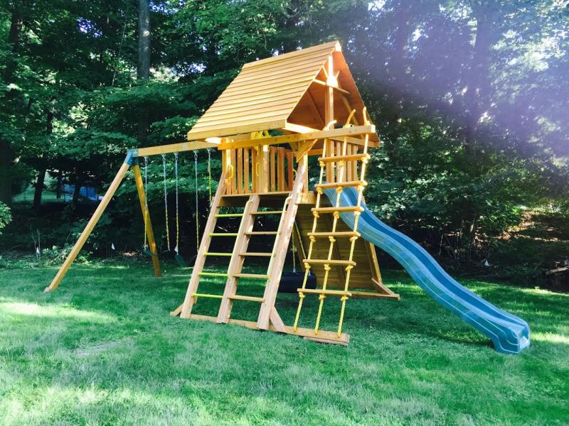 Supreme Wooden Swing Set Backyard Swing Set Ny Ct