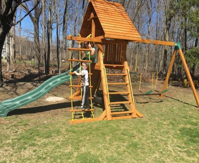 Supremescape Backyard Cedar Swing Set