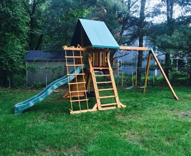 Supremescape Outdoor Swing Set Delivered and Installed