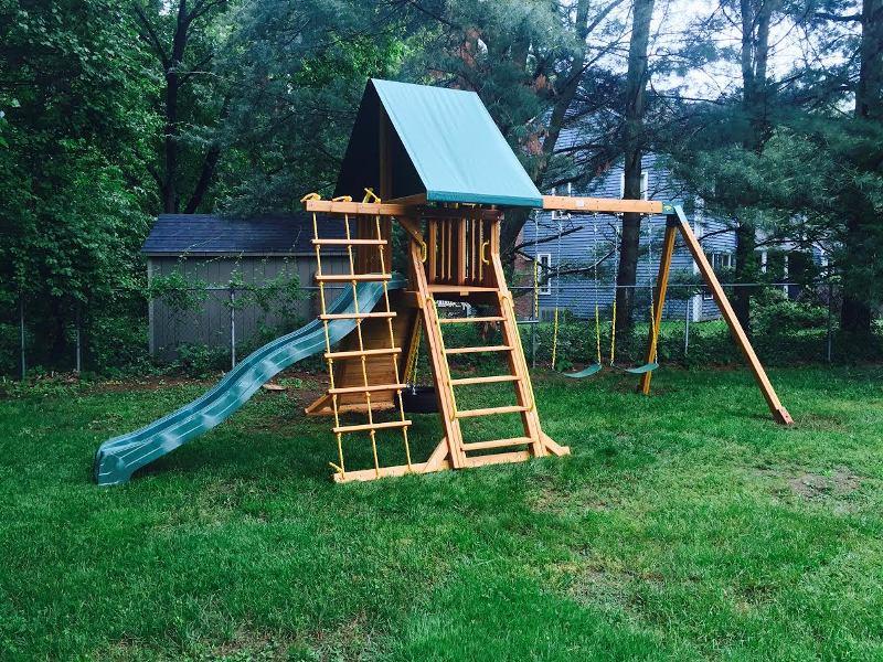 SUPREMESCAPE WOODEN SWING SET   Backyard Swing Set   NY & CT