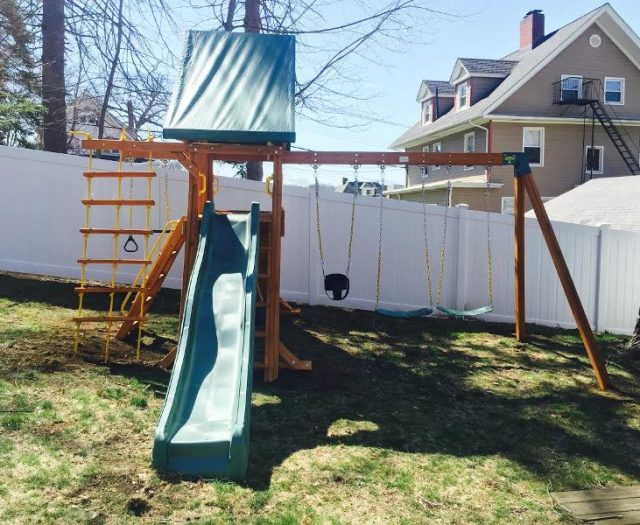 Supremescape Playset with Wooden Step Ladder