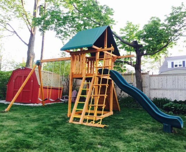 Ultimate Cedar Outdoor Playset Delivered and Installed