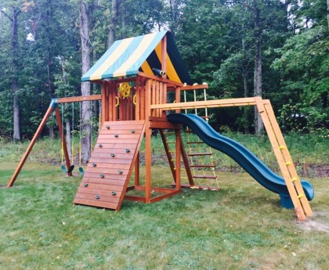Ultimate Cedar Swing Set with Monkey Bars