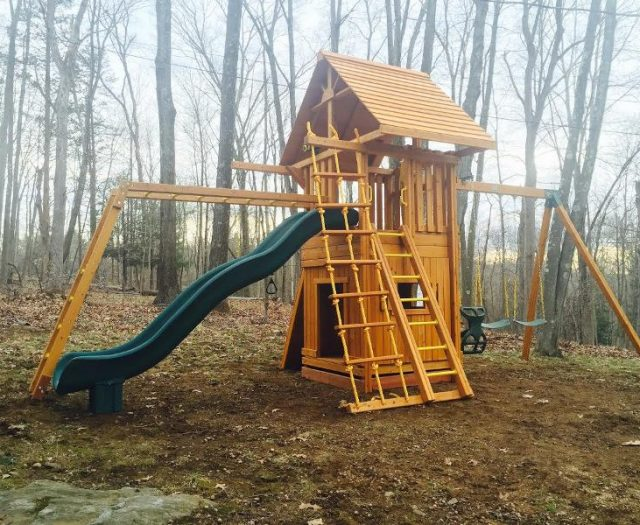 Ultimate Outdoor Cedar Playset Delivered and Installed