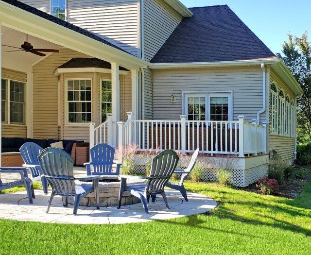 backyard patio in shelton ct