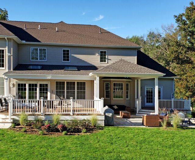 backyard deck renovation