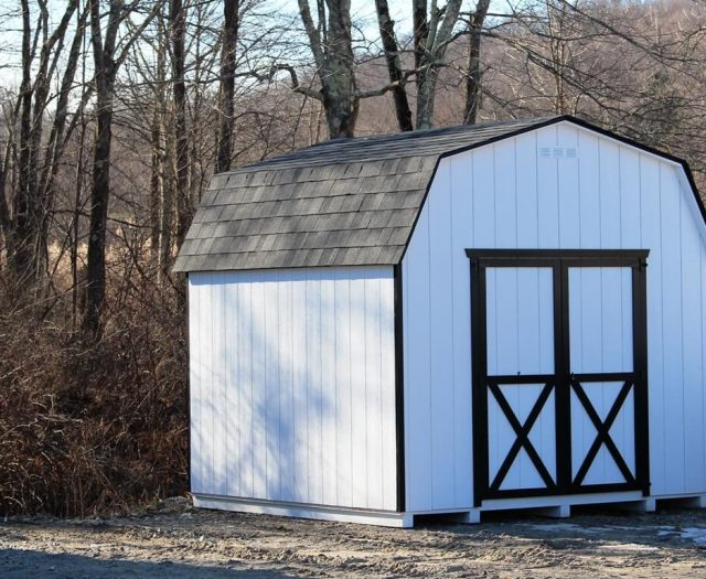 6' Wall Barn White T-111
