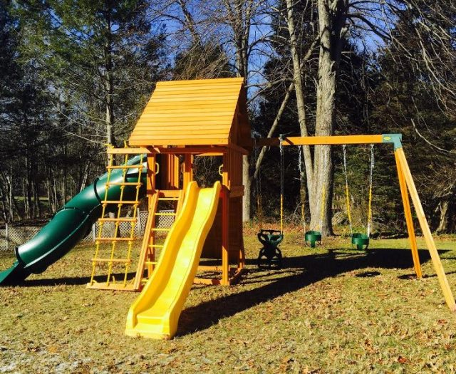 Cedar Swing Set Dream with Spiral Slide